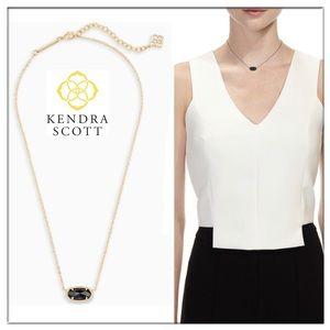 Kendra Scott Elisa gold pendant necklace in black